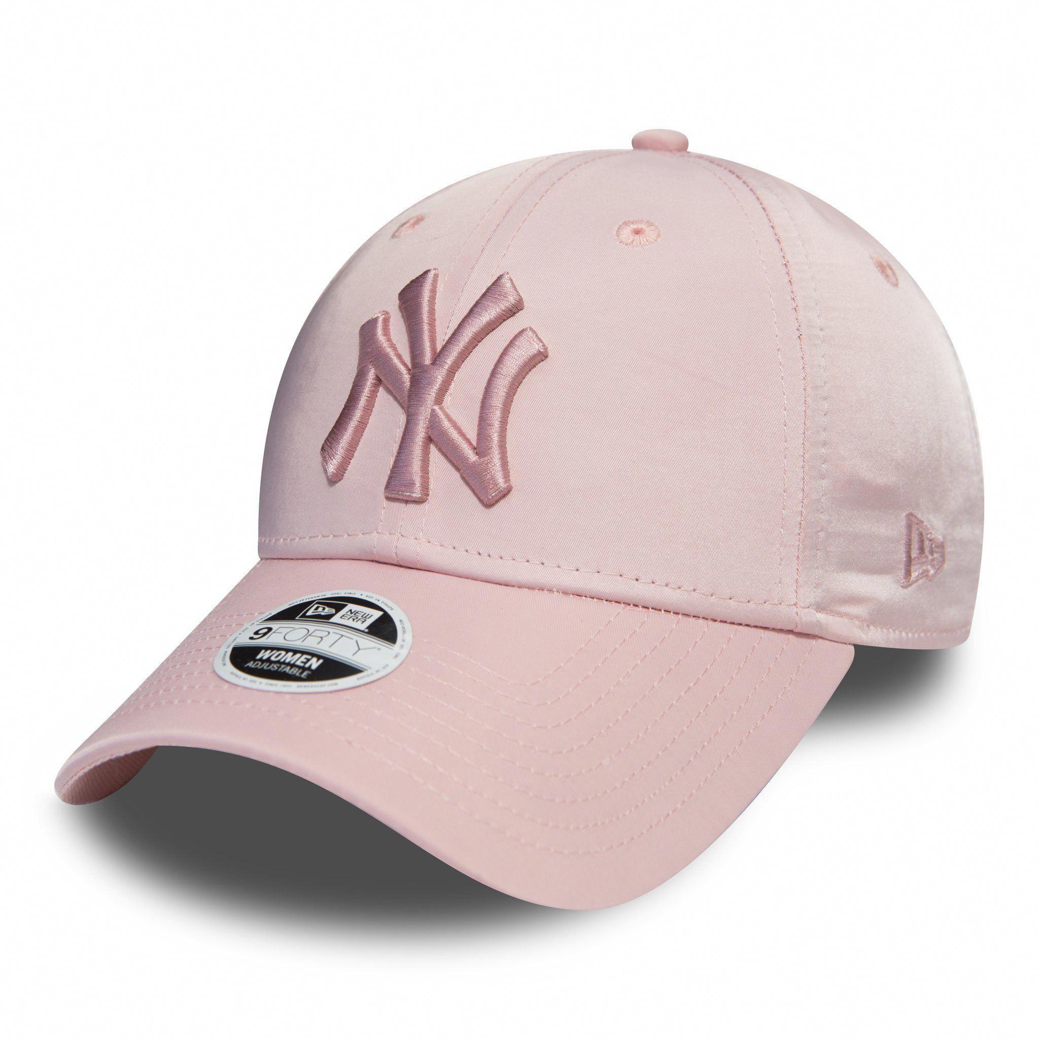 1aec6819054a7 NY Yankees Womens New Era 940 Satin Pink Baseball Cap – lovemycap   baseballcaps