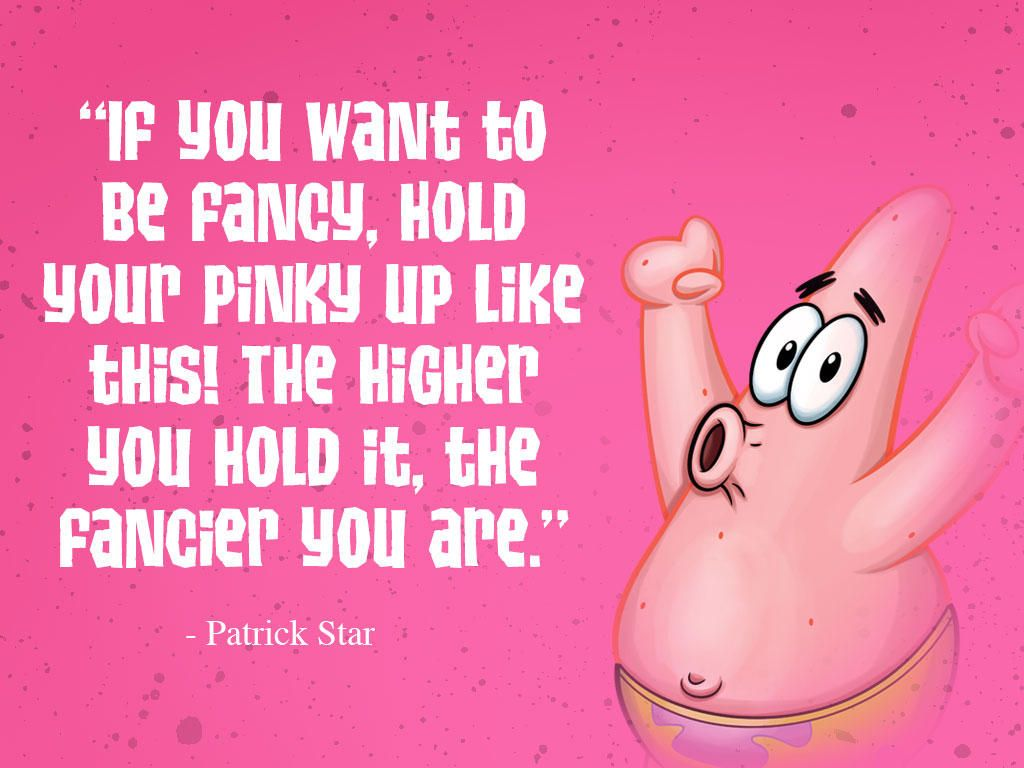 bottom words of wisdom from patrick star spongebob humor