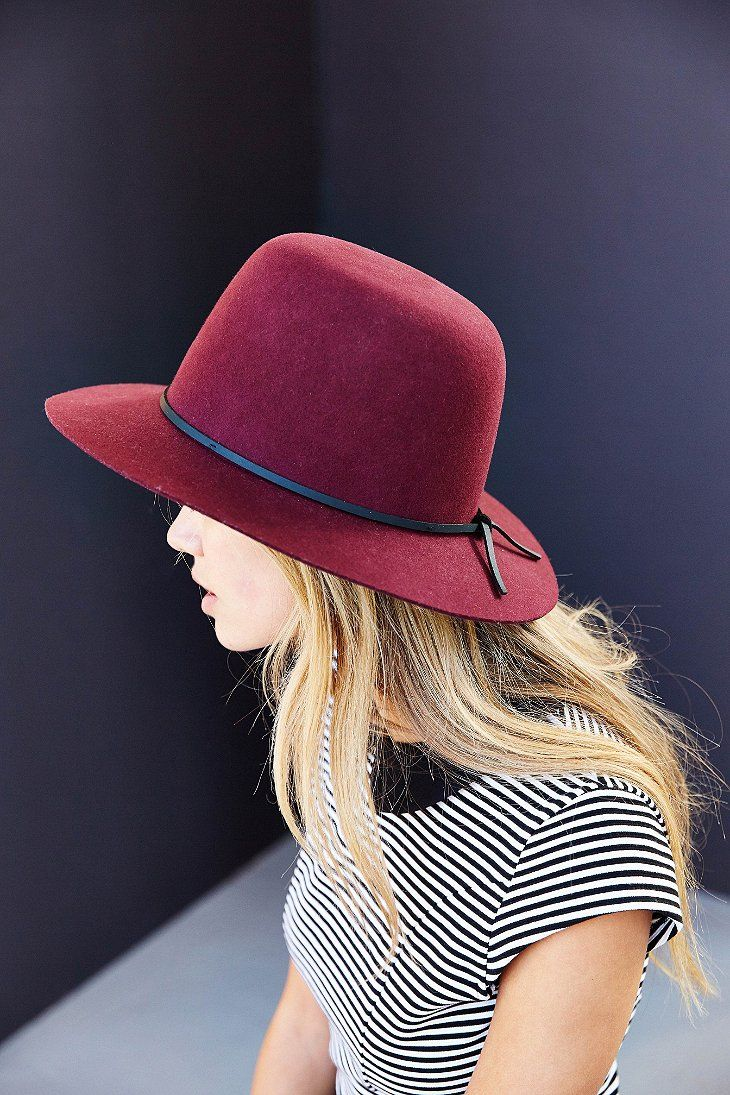 ff0a2ba7 Brixton X UO Clint Felt Panama Hat - Urban Outfitters | I Like in ...
