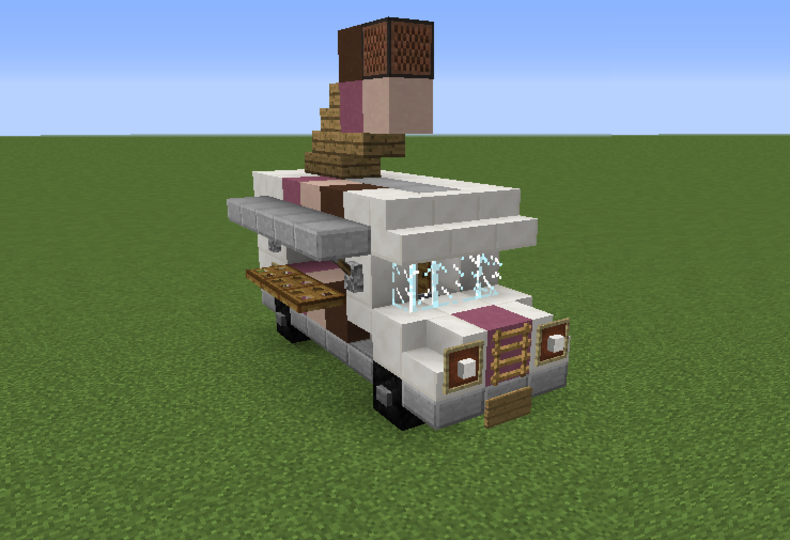 Ice cream truck grabcraft your number one source for minecraft minecraft i would not make an ice cream truck but this does have a couple good ideas for like the tires ccuart Image collections