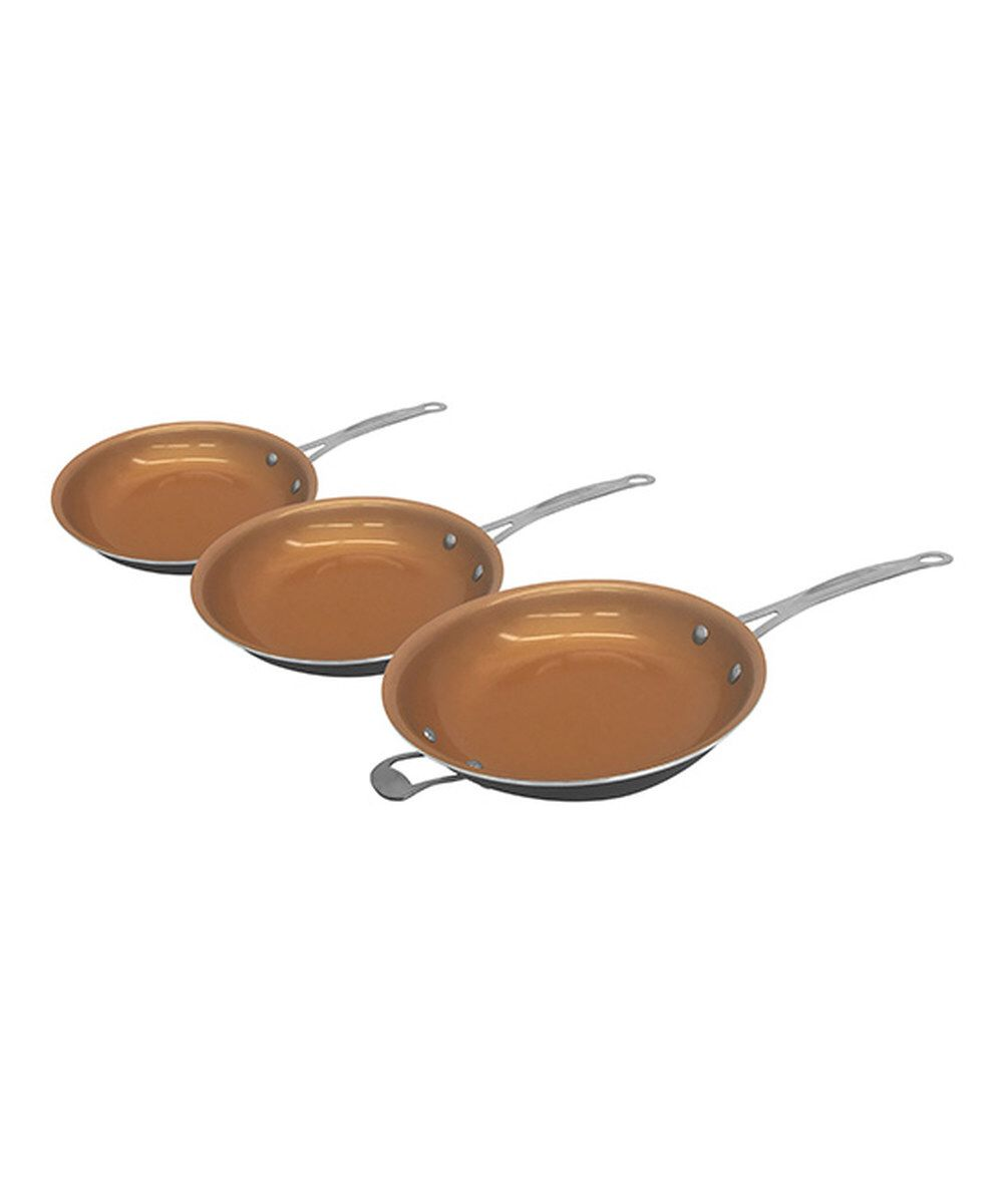 Look at this Gotham Steel Three-Piece Non-Stick Pan Set on #zulily today!