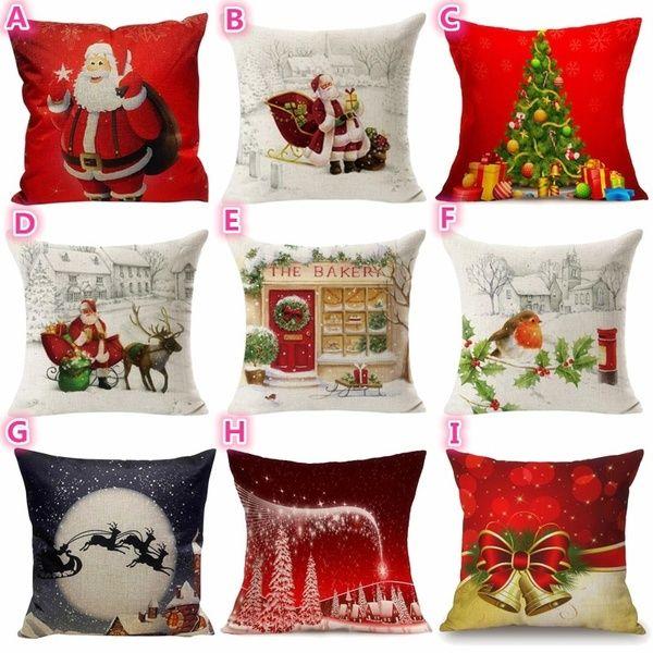 Christmas Tree Comfortable Sofa Festival Pillow Case Cushion Cover Christmas Pillow Covers Pillows Decorative Pillows