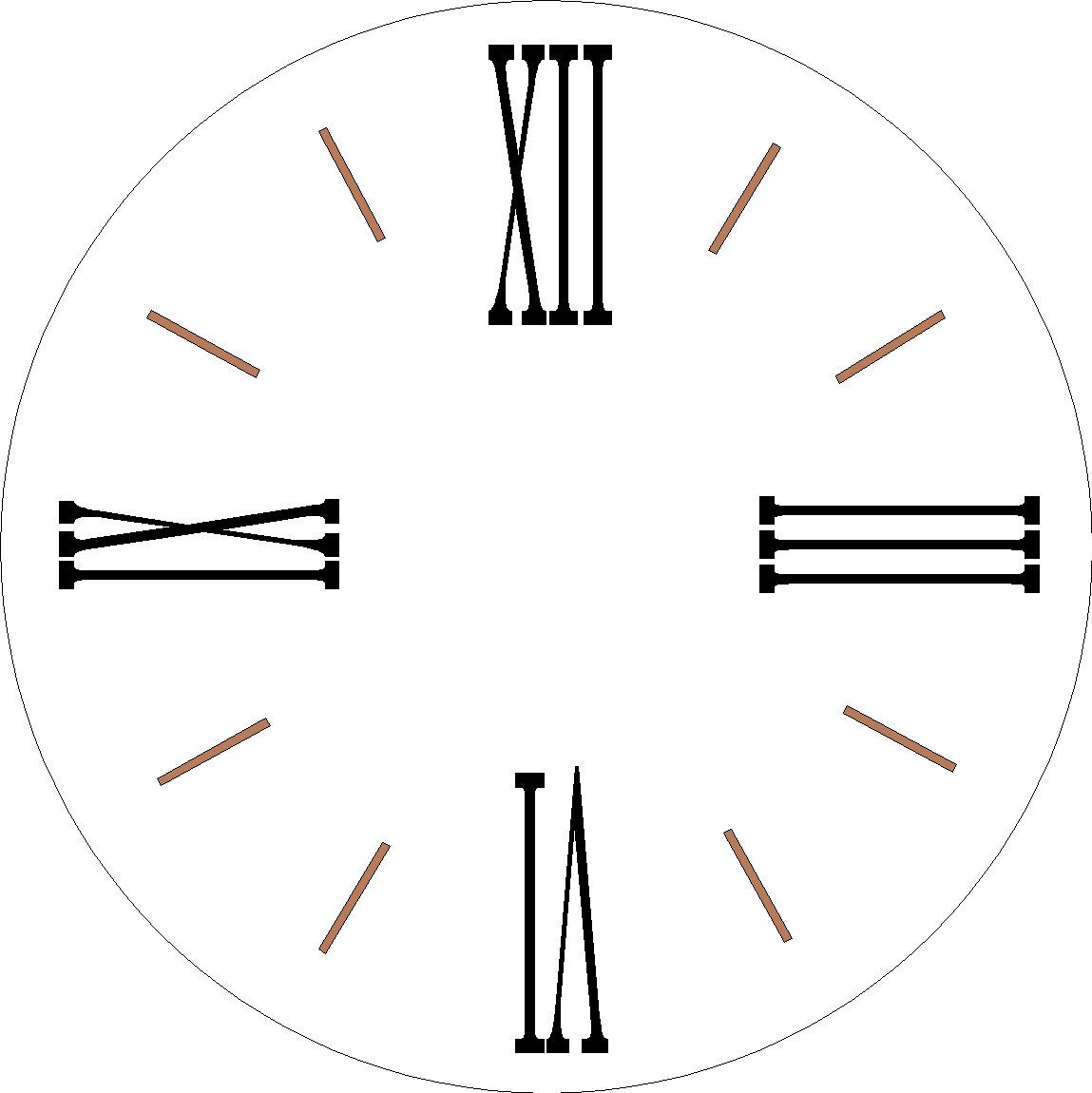 By Vinylexpress On Etsy Roman Numeral Stencil Or Decal Based A 30 Round Clock Face ONLY Board Not Included