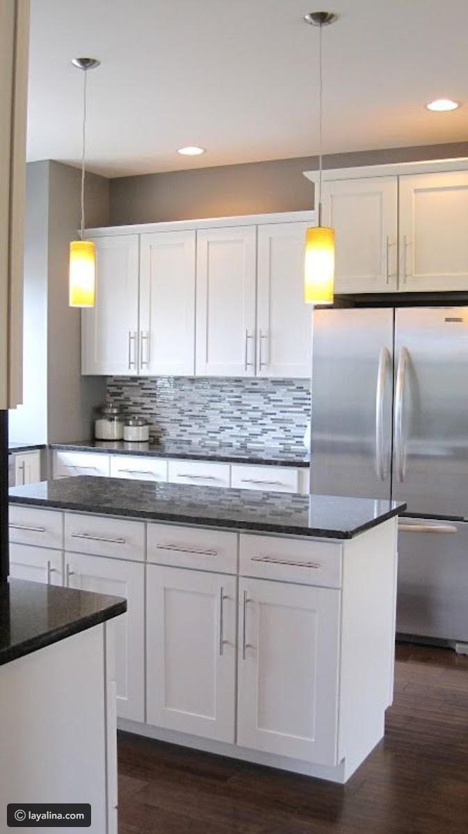 صور مطابخ باللون الأبيض 2017 Kitchen Cabinets Grey And White Craftsman Kitchen Kitchen Redo