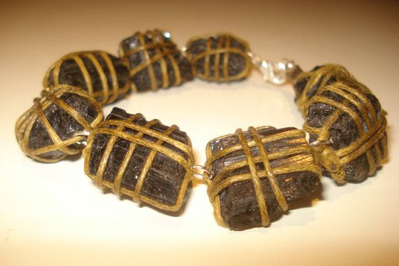 Black  tourmaline  bracelet  EMF protection by Hellenicrocks, $48.00