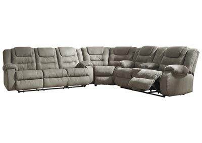 Tremendous Mccade Cobblestone Reclining Sectional Category Living Unemploymentrelief Wooden Chair Designs For Living Room Unemploymentrelieforg
