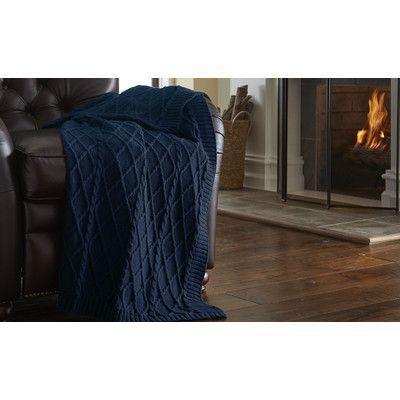 Amrapur Cable Diamond Knit Throw Color: