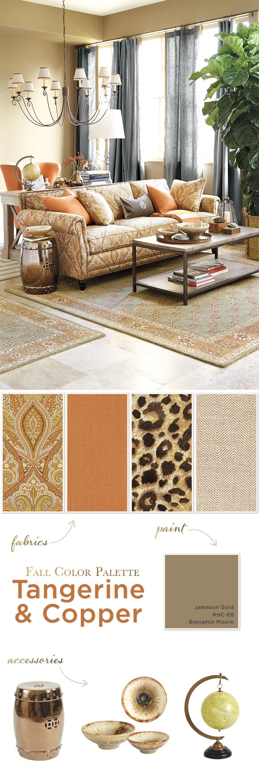 Fall Shade Palettes Copper And Tangerine Home Decor Life