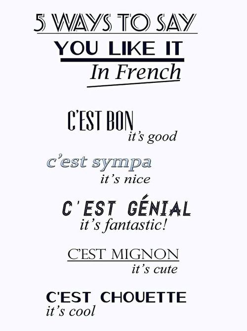 How to say you like in french