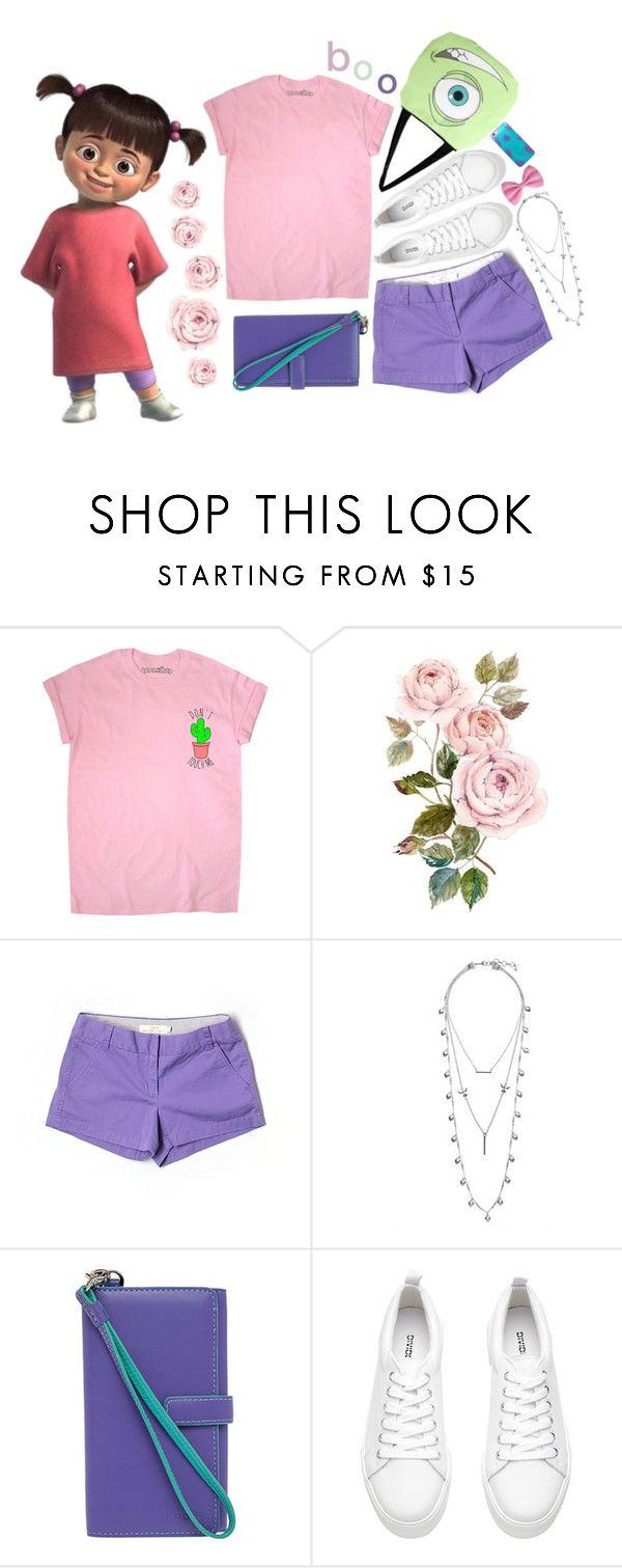 """""""boo from monsters inc"""" by kumaray ❤ liked on Polyvore featuring Disney, J.Crew, Lucky Brand and Lodis"""