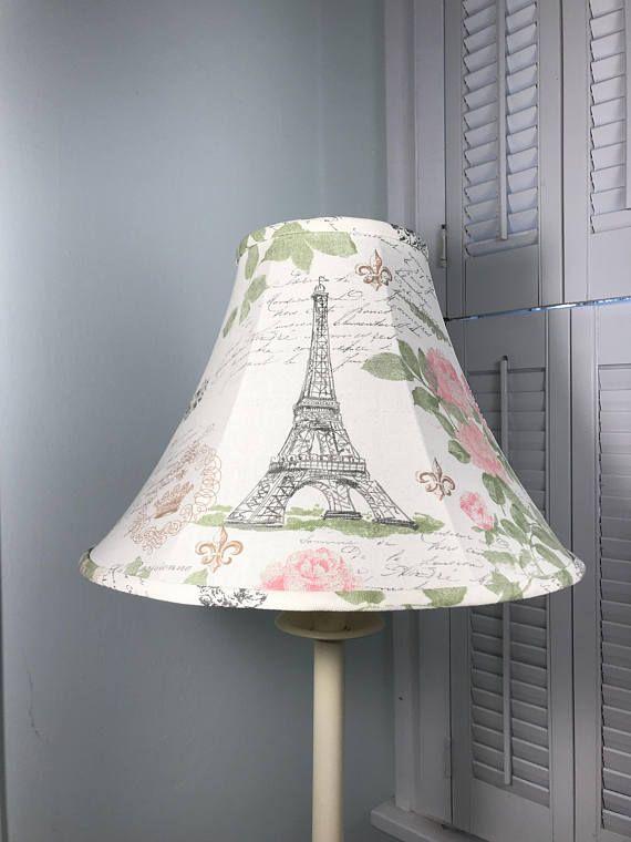 French Lamp Shade Shabby Chic Lamp Shade Eiffel Tower Lamp