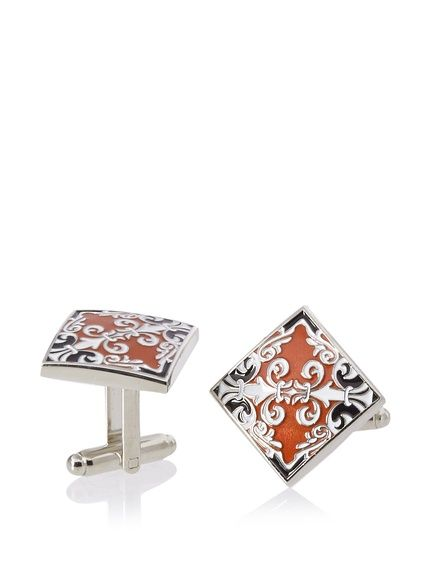 L2 by LOMA Scroll Cufflinks, Dark Orange; these do not suck.
