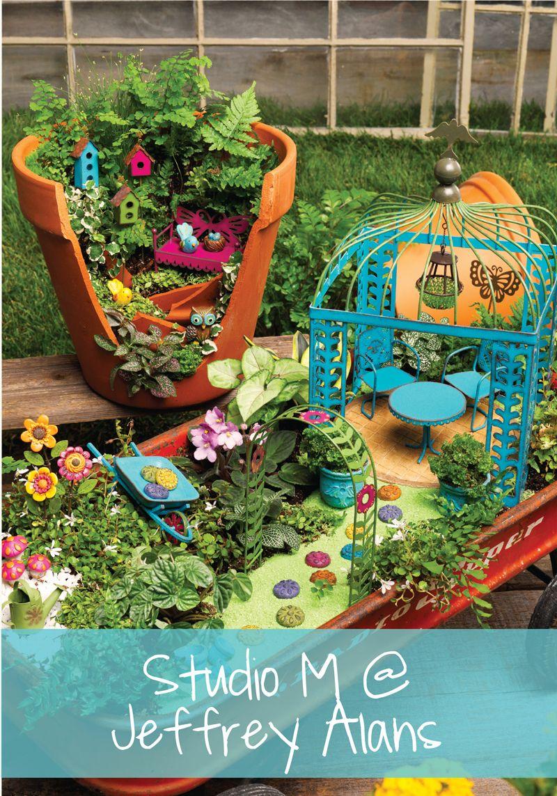 Miniature Fairy Gardening Studio M At Jeffrey Alans Fairy Garden Accessories Fairy Garden