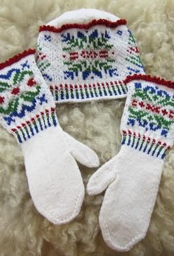 Pattern for No Two Alike Snowflakes Set at KnitPicks. 6 different motifs in all. Mittens and Hat are sized from a child small thru adult xl.