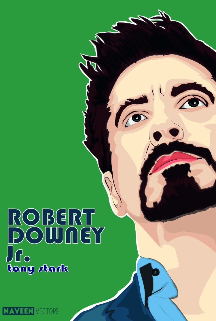 48985703242e  Robert  downey  Jr  tony  stark  iron  man  iron man  illustration  vector   art