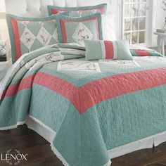 Teal And Coral Bedrooms