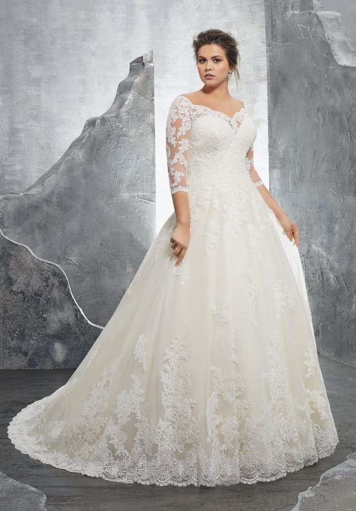 671d0ca89287e 70 Stunning Plus Size Wedding Dresses for 2018-2019 Brides