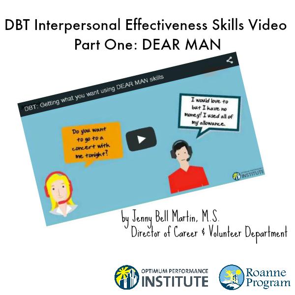 Dbt Interpersonal Effectiveness Video Dear Man Interpersonal Effectiveness Dbt Dbt Skills