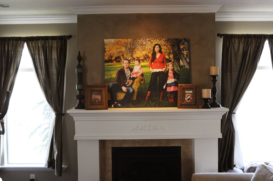 If it 39 s going over the mantel it needs to be big no for Mantel display ideas