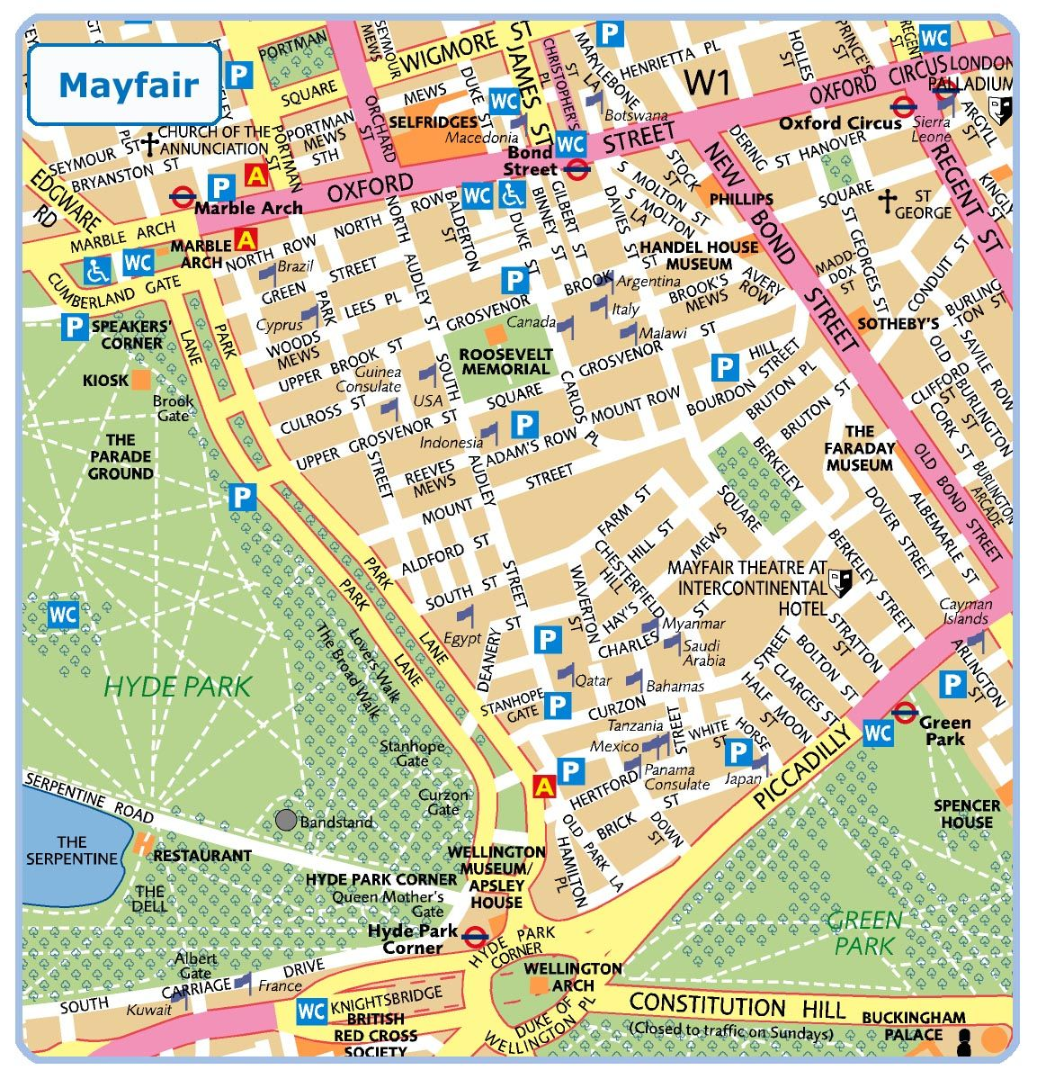 Mayfair London London Mayfair Mapa Londyna Travel Tourist