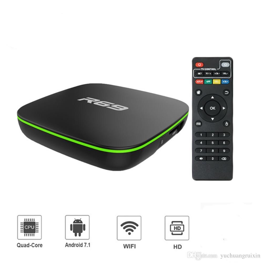 Телевизионная приставка - android R69 Android TV Box Android - www ...