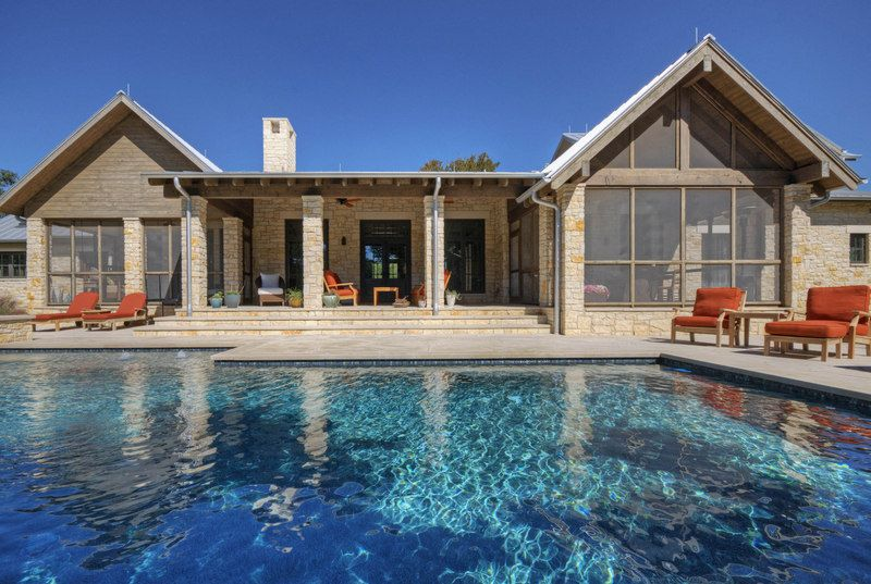 swimming pool hill country home design - see more at: http
