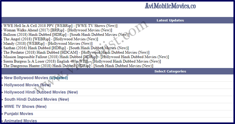 AviMobileMovies co │Download Latest Hollywood & Bollywood