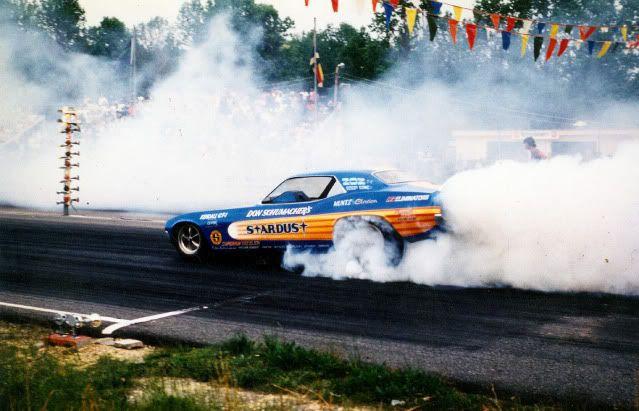 "Don Schumacher's #2 ""Stardust"" '73 Cuda F/C,driven by Bobby Rowe."