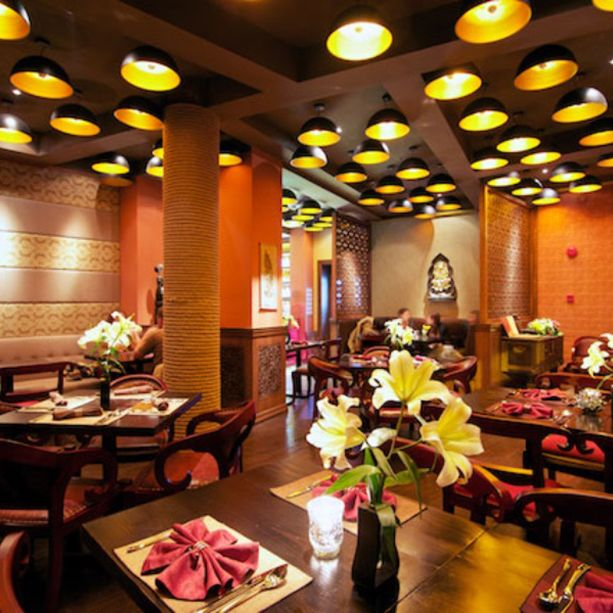 Saffron indian restaurant shanghai by red design
