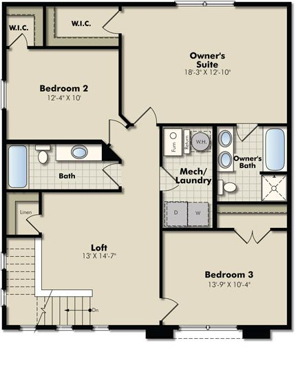 Nicols Ridge Community In Eagan Jefferson Floor Plan Upper Level Minnesota Home New House Plans Lennar