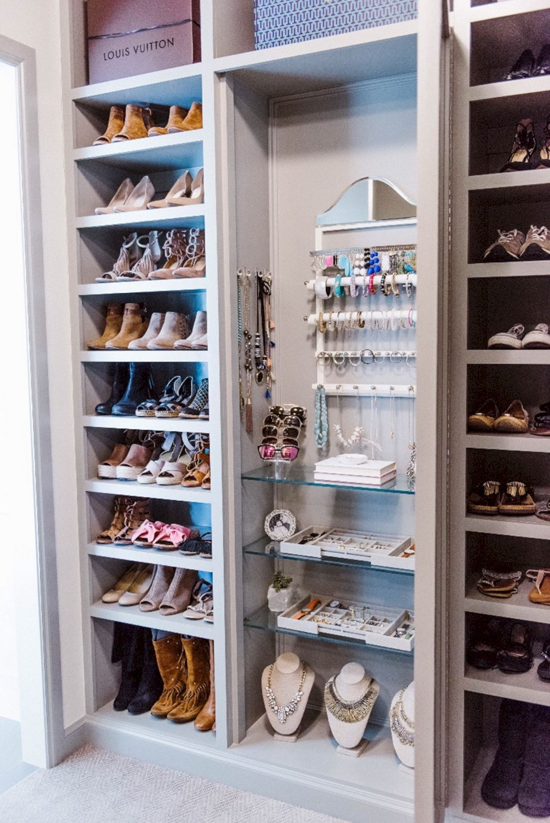 25+ Awesome Modern Closet Organization Ideas is part of Master closet organization - When planning your small space overhaul, think about just how you're able to employ your closet's vertical space to make more storage  Before you will depart from your closet  That is w…
