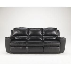 Nebraska Furniture Mart Ashley Black Bonded Leather Reclining Sofa