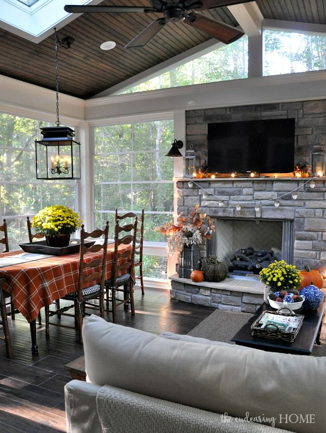 Back Porch Additions Best Ideas About Room Additions On House Additions Interior Designs: Fall 2015 Porch Tour - The Endearing Home