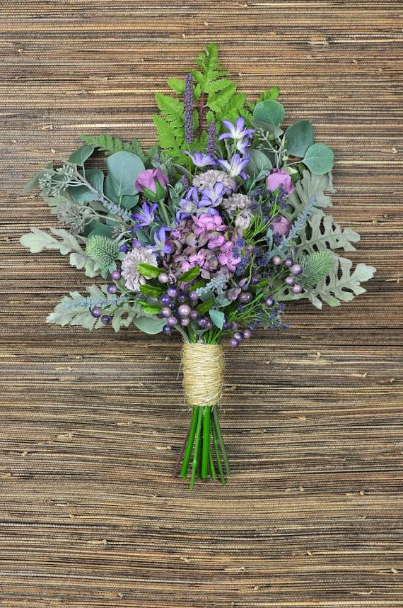 174e7e59db Wildflower Bouquet, Purple and Green Bouquet, Greenery Bouquet, Free ...