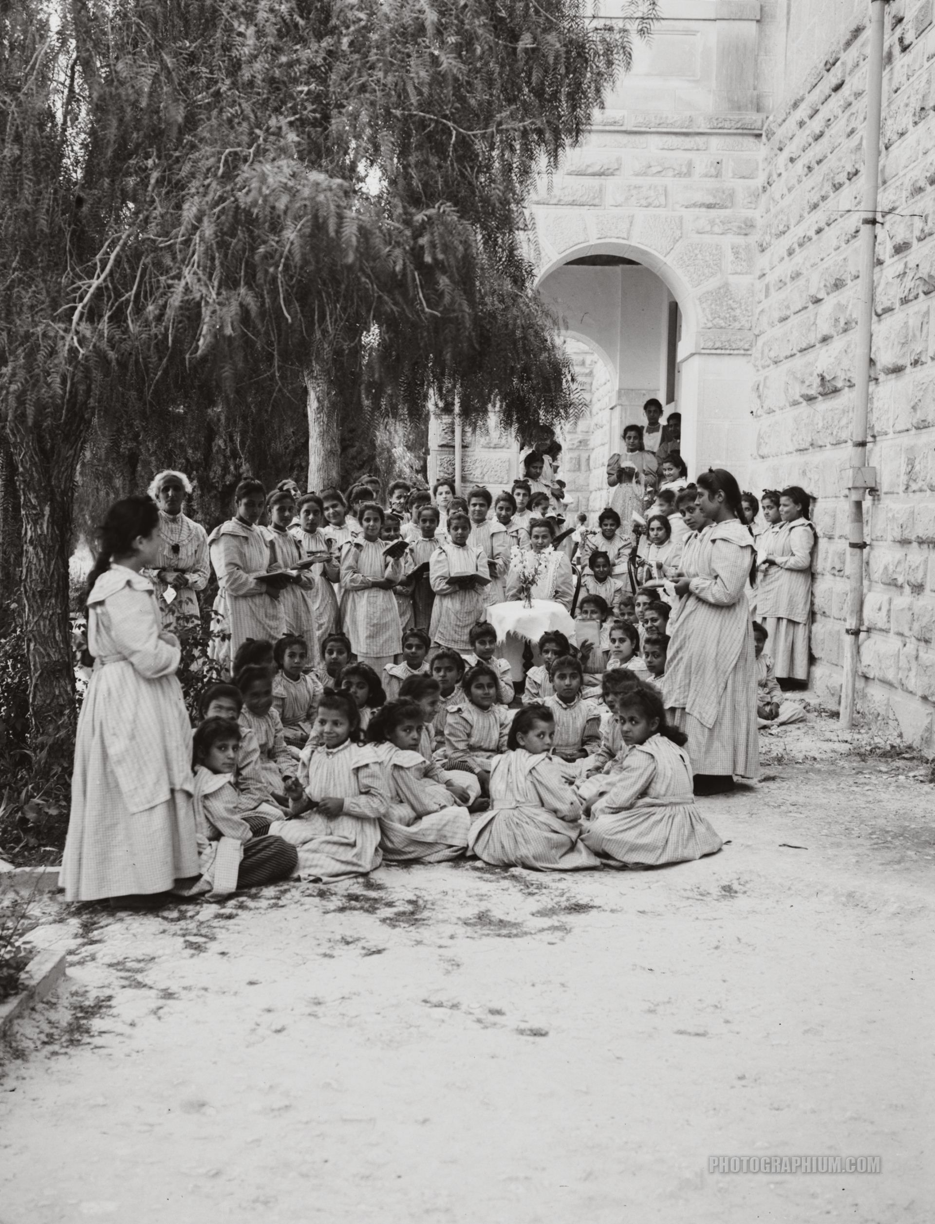 English Mission Girls School Nablus Palestine 1900 1920