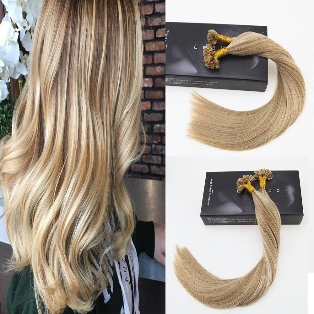 G highlights u tip keratin brazilian real human hair extensions