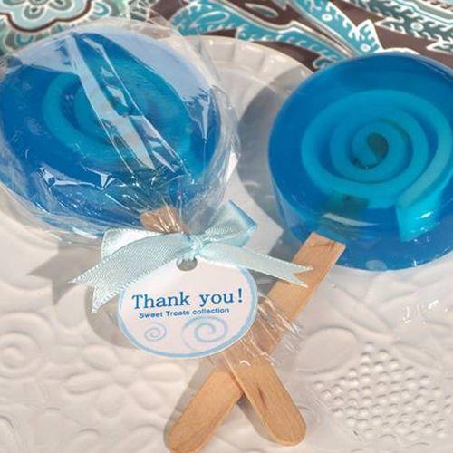 Blue Lollipop Soap Favors
