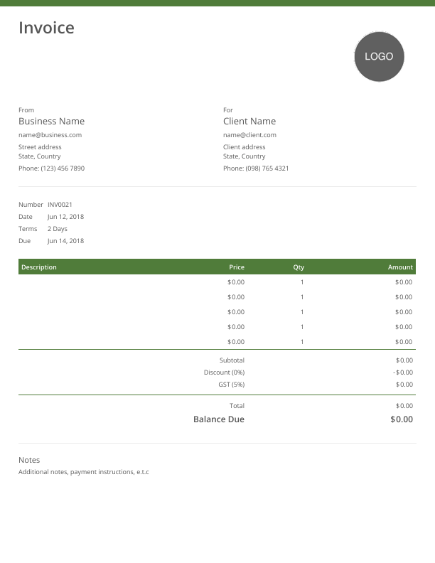 Invoice Template Free And Fully Customizable Online Templates Photography Invoice Template Invoice Template Invoice Template Word