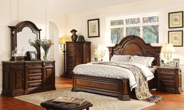 Antique Bedroom Furniture Set Wood Indoor Home Furniture Buy
