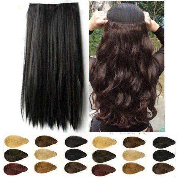 Mega thick 34 full head clip in synthetic hair extensions 100 mega thick 34 full head clip in synthetic hair extensions 100 real made hair pmusecretfo Gallery