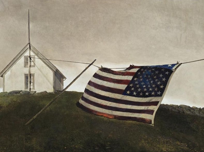 Battle Flag, Andrew Wyeth | ワイス, クールベ, コロー