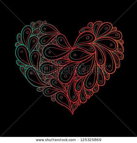 paisley heart tattoos google search tattoo pinterest paisley rh pinterest ca Paisley Tattoo Designs Women paisley love heart tattoos