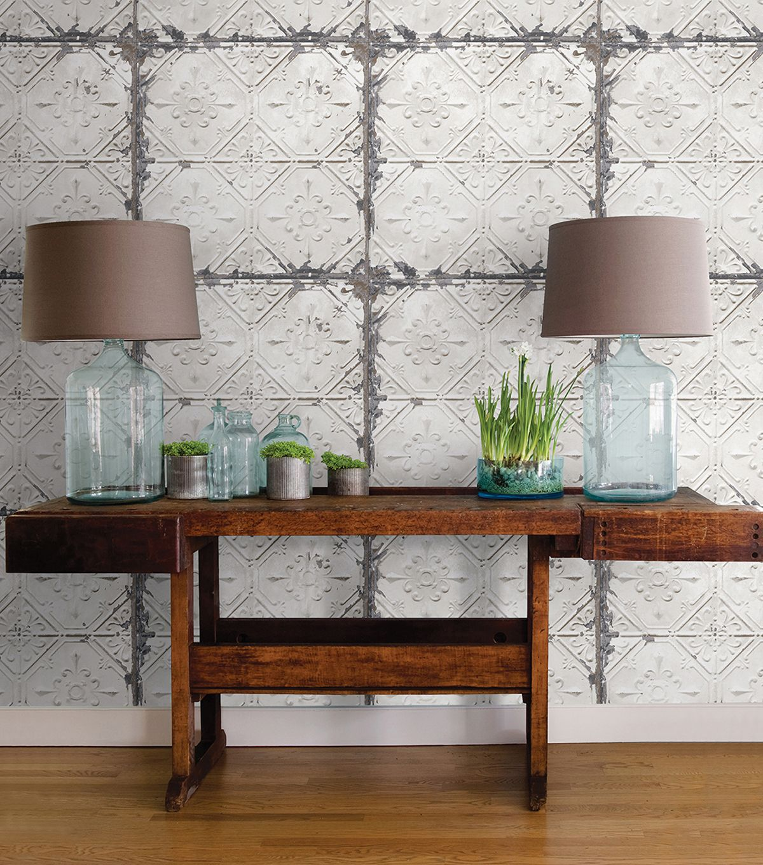 Wallpops nuwallpaper peel stick wallpaper vintage tile