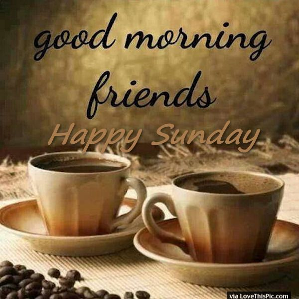 Good Morning Friends Happy Sunday Coffee With Images Good