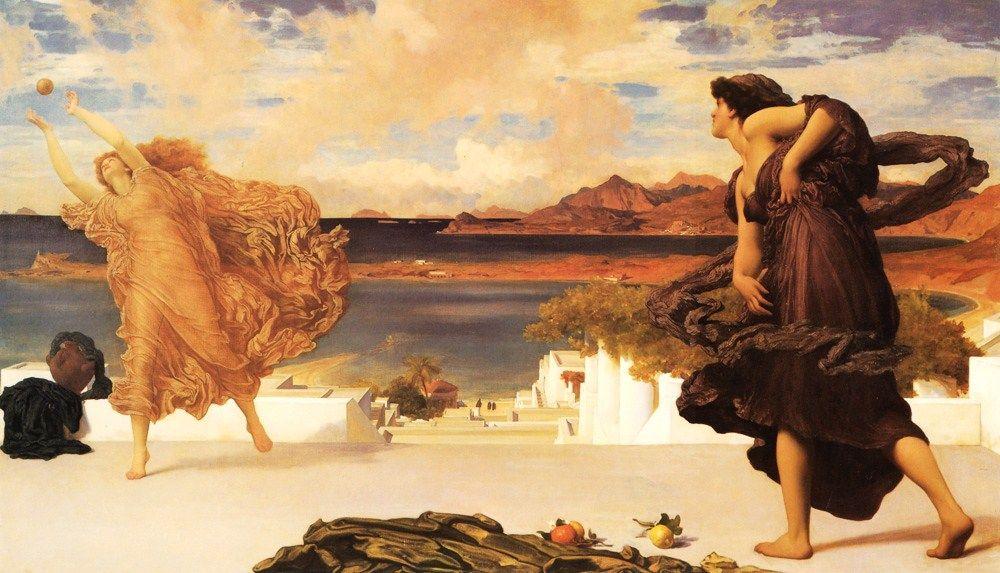 lord-frederick-leighton-muchachas-griegas-jugando-a-la-pelota-1889
