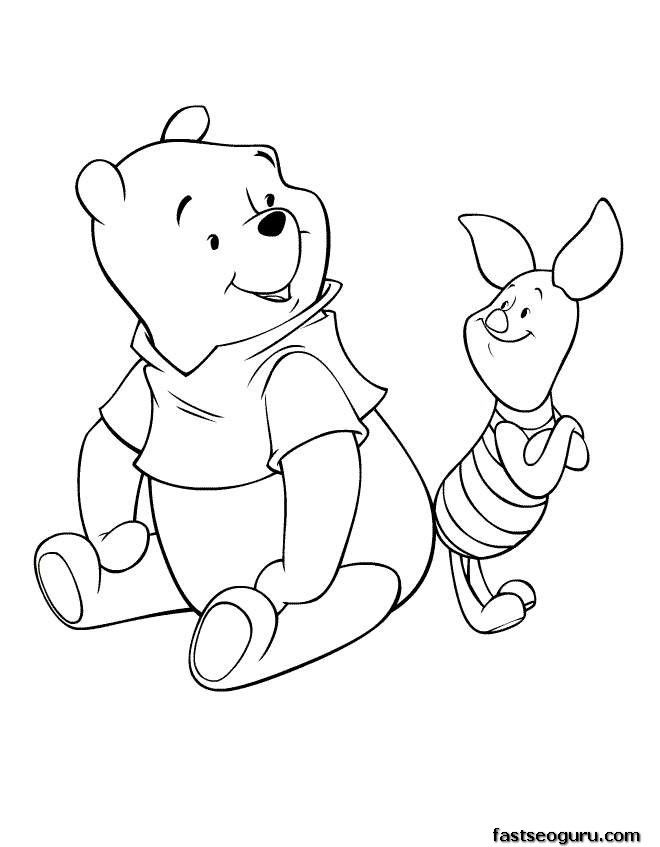 988 Cartoon Coloring Pages Disney Characters Winnie The Pooh And