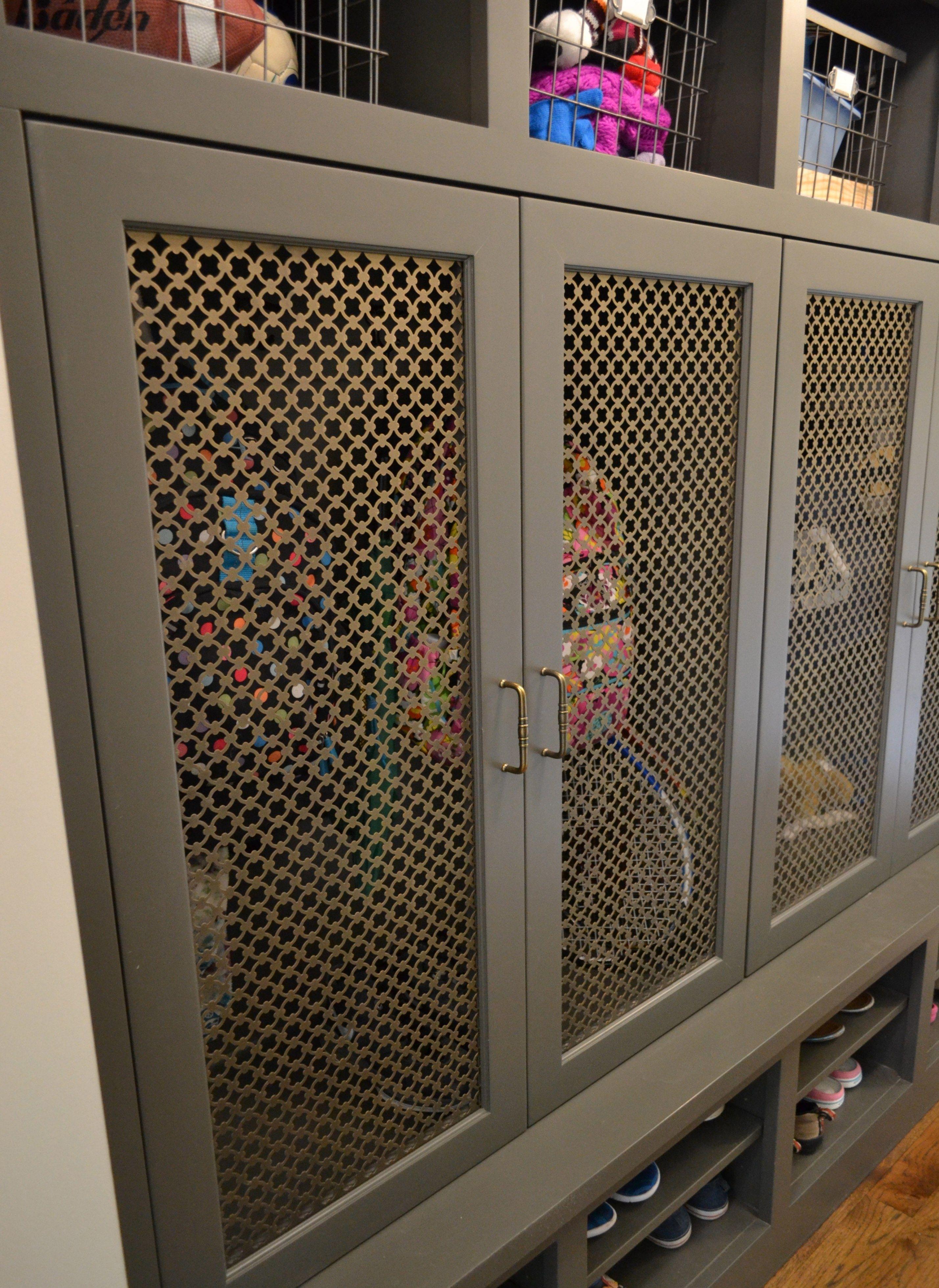 Wire Mesh Cabinet Door Panels Mudroom Lockers Cabinet Doors