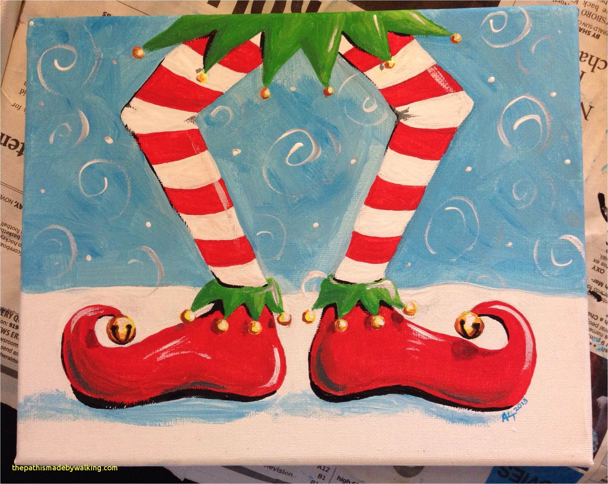 Easy Christmas Paintings For Kids Awesome 869 Best Christmas Painting Canvas Images On Pinterest Christmas Canvas Art Christmas Canvas Christmas Paintings