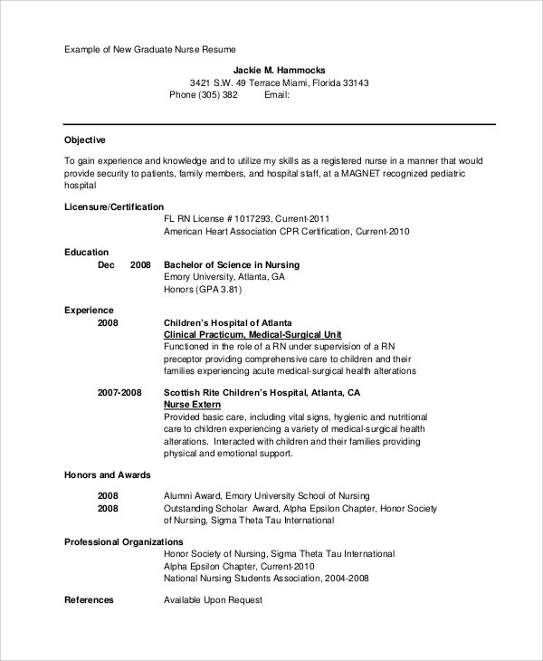 sample nursing student resume examples word pdf new registered - resume examples for registered nurse