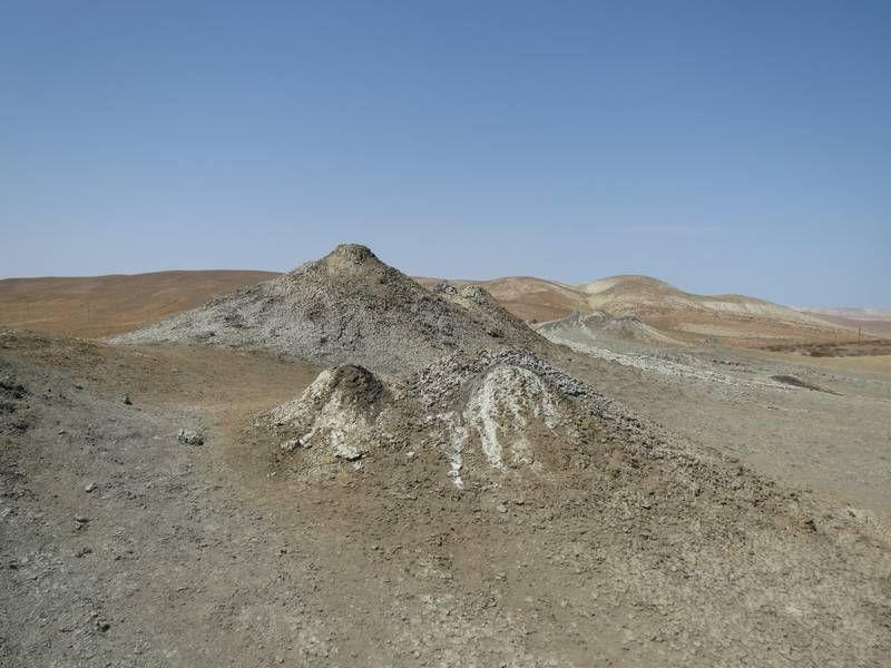 Mud volcanoes near Qobustan, Azerbaijan (Photo: WNomad) (pinned by haw-creek.com)